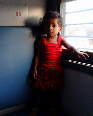 Girl on the train, India